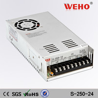 CE RoHS approved S-250-24 24V Computer Power Supply