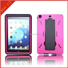 case for Apple iPad mini 1 2 protector pc silicone cover for ipad mini with robot stand