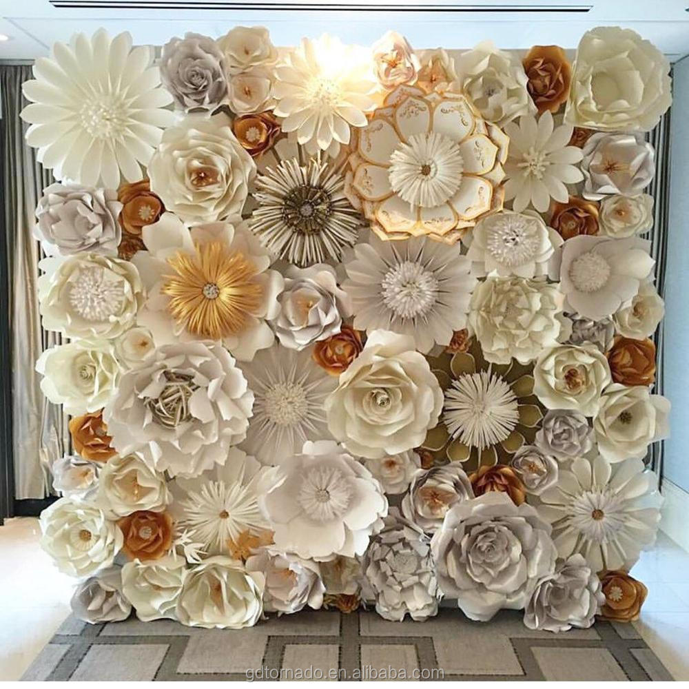 Large Paper Flowers Backdrop Giant Paper Flowers Backdrop Paper