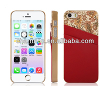 Hot selling card slot phone case for iPhone 5