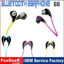 mini bluetooth earphone for all phones in- ear bluetooth handset G6 bluetooth earphone
