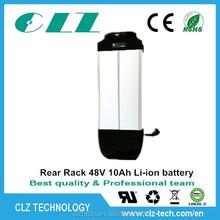CE/ROHS/FCC/UN38.3 hot type 24V/36V/48V lithium ion e-bike battery