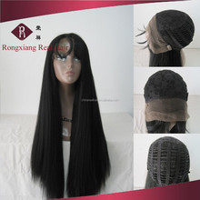 Cheap Heat Resistant Natural Baby Hair Yaki Hair Synthetic Lace Front Wig