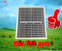 New Fashion Polycrystalline Soalr Cell 15w/18v Polycrystalline Panel Solar