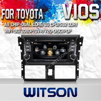 WITSON DVD HEAD UNIT FOR TOYOTA YARIS 2014 WITH RAM 8GB FLASH BLUETOOTH STEERING WHEEL SUPPORT
