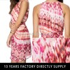 Red Fire Floral Printed Halter Lady Designer Dress From China