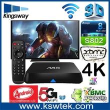 Low price amlogic s802 internet m8 android tv box kodi