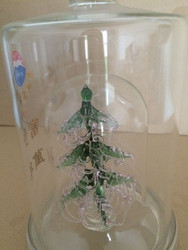 christmas tree shaped glass jar vodka