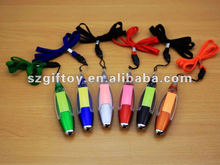 led torch light pen with memo pad