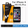 Wholesale !! 0.2mm 9H Mobile Anti-fingerprint Tempered glass screen protector for iPhone 6 / tempered screen protector