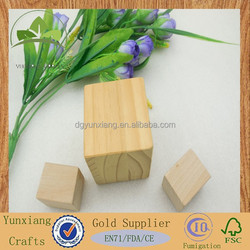 FDA approved 66mm pine wood block toy