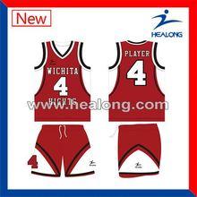 Healong Digital Printing Durable Customized Basketball Jerseys Online