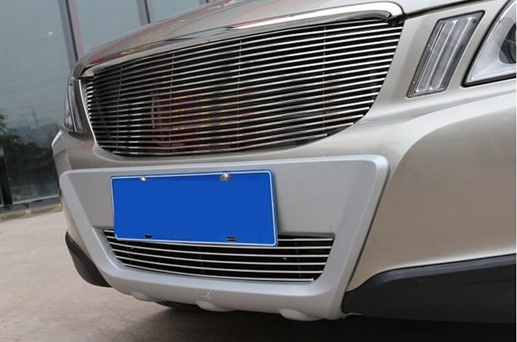2009-volvo xc60 5dr hatchbac высокое качество нержавеющей стали передняя решетка вокруг отделки гонки грили отделкой