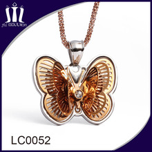 18k rose gold handmade latest model fashion butterfly necklace