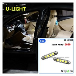 Factory cheap bulb atuo Car LED dome/interior light 42mm 4smd 5050 LED light AC 12-15V
