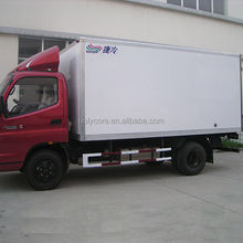 Mini delivery refrigerated van made by pp honeycomb sandwich panel