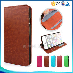 Crystal crazy horse pattern with photo frame card slot magnet pu leather flip case for Lenvov Vibe S1