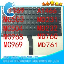 Original Keyboard For APPLE MacBook Air 13 13.3 A1369 A1466 UK Laptop Keyboard MC966CH/A MD231CH/A MD232CH/A 2011 2012
