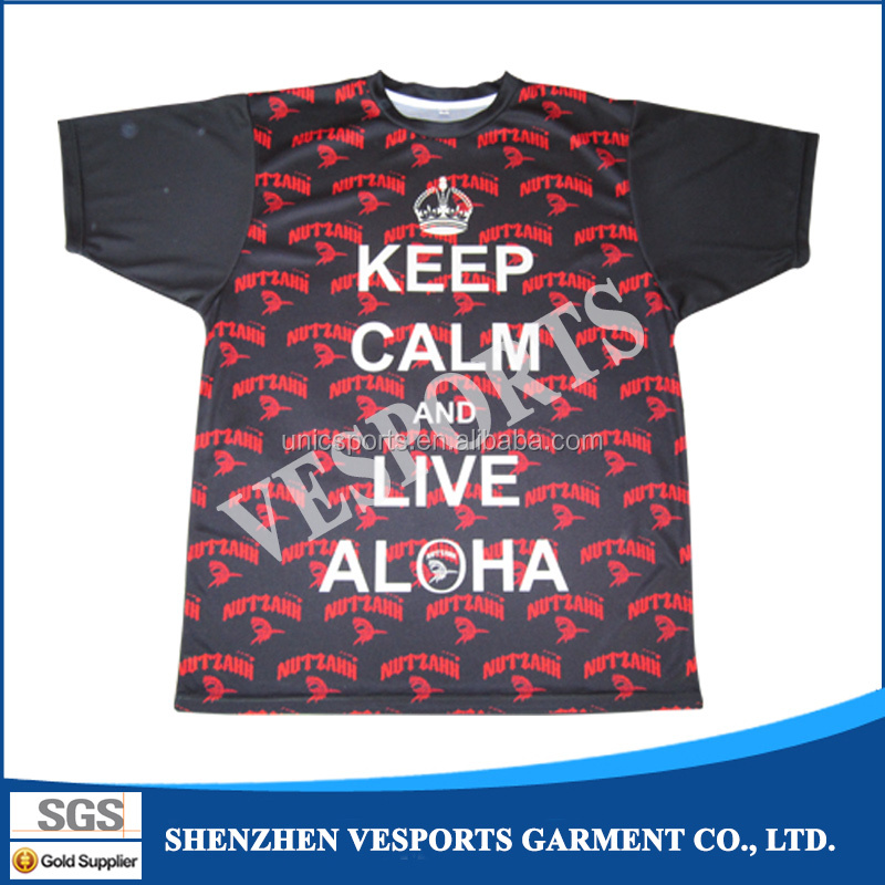 China Manufacturers Wholesale Blank T Shirts Polyester