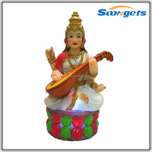 Saraswati Hindu God Sculpture Craft