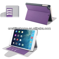 Linen Texture Magnetic Buckle Leather Case with Credit Card Slot & Holder for iPad mini / mini 2 Retina