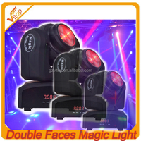 New double faces 10w rgbw led rotating beam moving head club