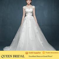2015 China Custom Made Satin Belt Egypt Wedding Dress Ball Gown Patterns