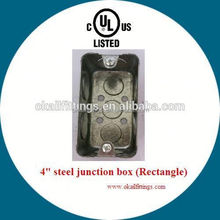 Rectangular Galvanized steel electrical switch box for Saudi Arabia &south America
