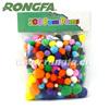 wooden educational toys pom poms/chenille stems/plastic eyes