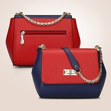 Sweet shoulder bag color collision handbag high quality pu bag fashion lady handbag SY6198