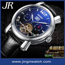 fashionable japan movt water resistant stainless steel back watch skeleton mechanic 2015 charm watch