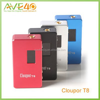High quality cloupor t8 150w mod t8 with 18650 battery