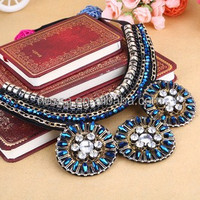 High quality fashion crystal collar necklace new model jewellery NSNK-26908
