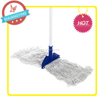 Cotton Yarn Mop With Plastic Cap and Clip / Metal stick household cleaning floor tools SY3178
