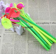 New anthurium rubber gel ink pen for promotion