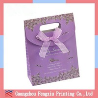 Handmade Bling Bling Christmas Paper Gift Bag With Die Cut Handle