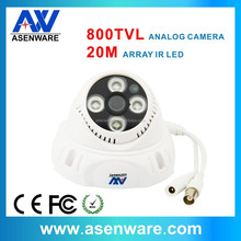 Indoor Array IR Dome Analog Camera 800 TVL 1/3'' CMOS Sensor with IR cut(AW-C482)