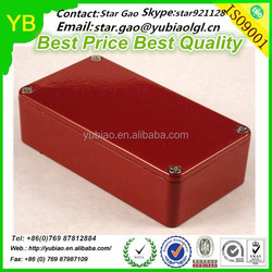 Red Color Hammond 1590BRD Aluminum Box For Effects Pedals,Custom Design Are Welcomed
