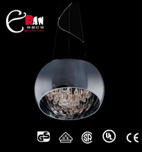D.400mm glass g9 pendant, glass chandelier lamp, crystal hanging lamp R019P