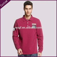 Proveedor de China ropa de manga larga camisa de polo