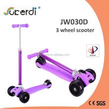 CE EN71 3 big wheels kids foot pedal kick foldable 120mm mini maxi china portable scooter