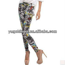 Newest Hot Fashion Seamless Long Aztec Tribal Gothic Young Ladies Sex Exaggerated Graffiti Digital Women Printed Leggings