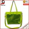 Fashion Two piece one set green pvc waterproof beach bag