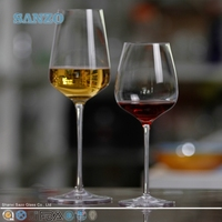 SANZO 2014 Newest Novelty Hand Blown Crystal Wine Glass