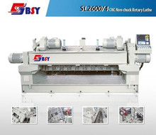 BQK series SL2600/4 cnc woodworking machine Spindless veneer rotary lathe / veneer production line hydraulic and CNC Control