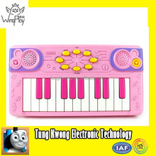 2015 hot sell cheap pink plastic electronic musical piano keyboard for sale