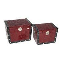 Storage MDF leather trunks