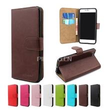 Luxury crystal grain leather mobile phone case for Micromax Unite 3 q372, flip wallet case for Micromax Unite 3 q372