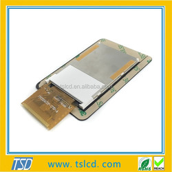 2.4'' color LCD screen module 240x320 dots with RTP and cover lens