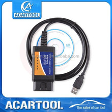 2015 hot-selling USB ELM327 interface supports all obdii protocol ELM327 Car Diagnostics Fault Code Cable